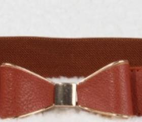 Ribbon Belt - Brown