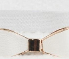 Ribbon Belt - White